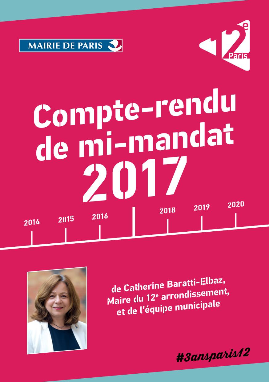 Compte-rendu de mi-mandat 2017 - 12e Paris